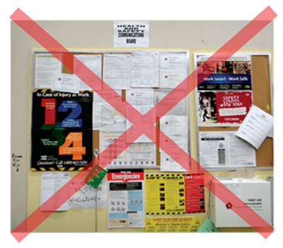 Health and Safety Corkboard